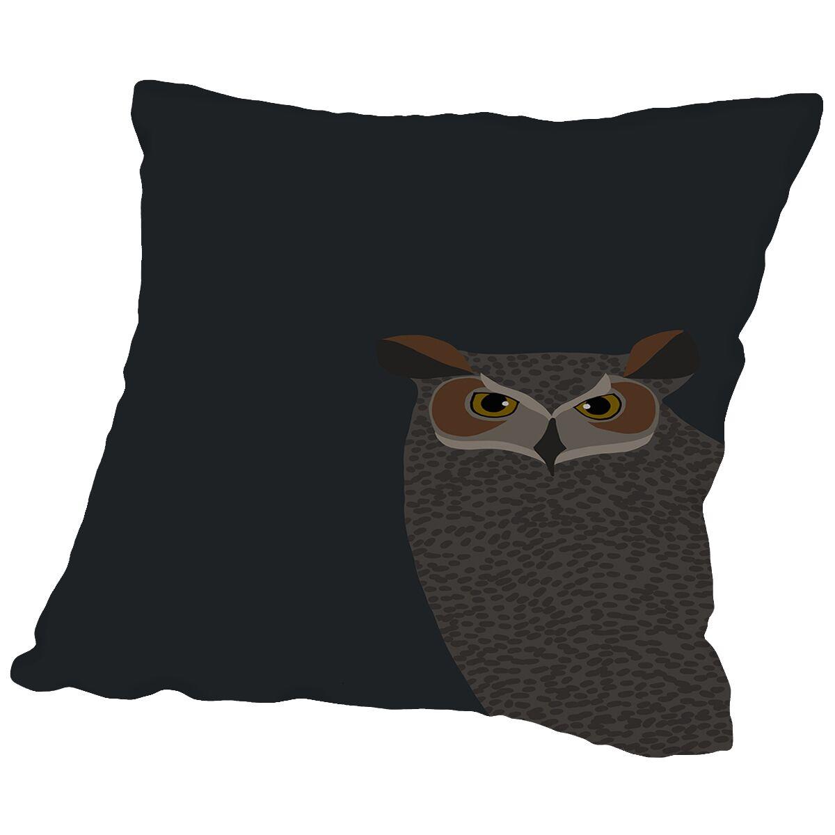 Owl Throw Pillow Size: 18