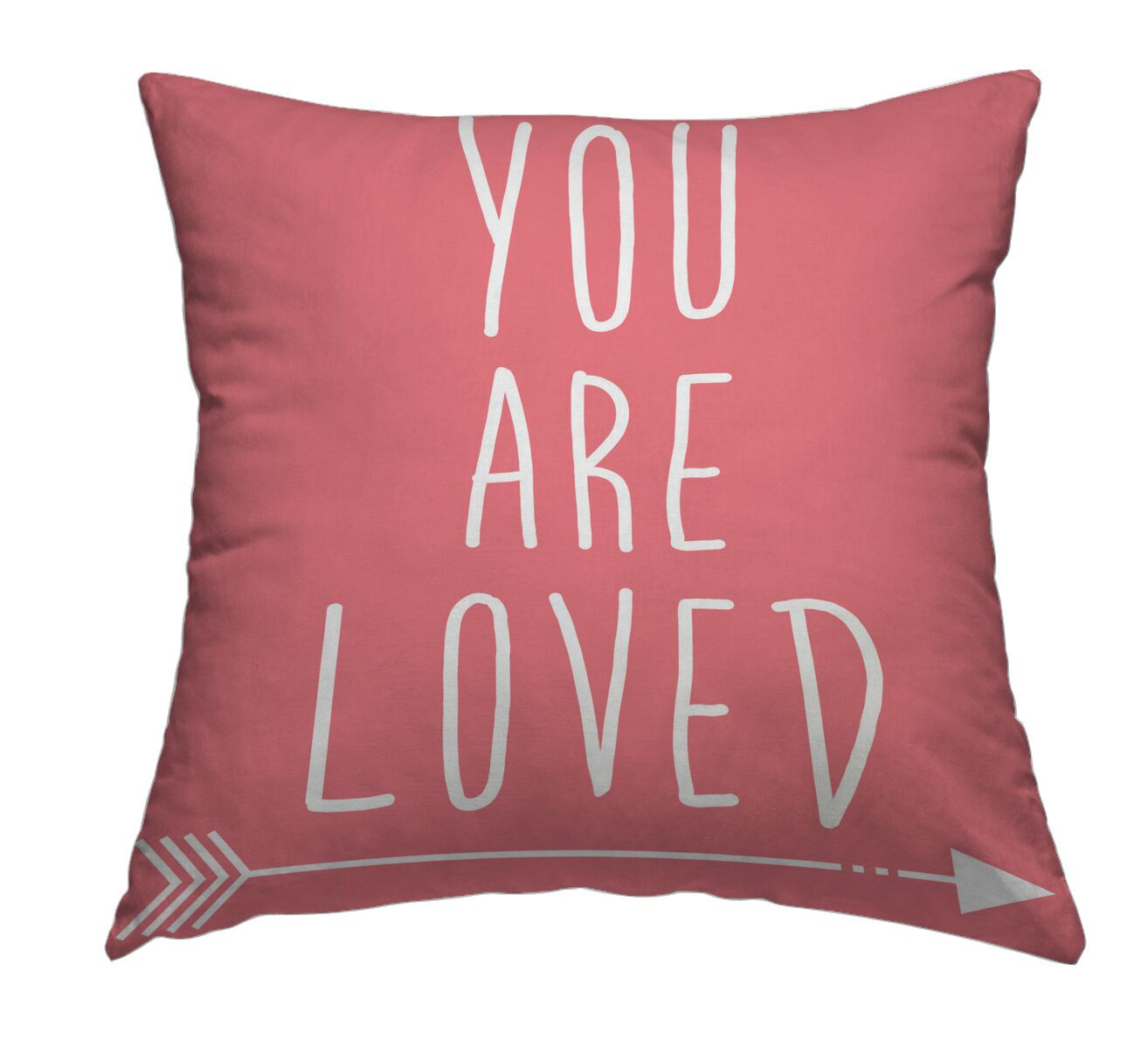 You Are Loved Throw Pillow Size: 20