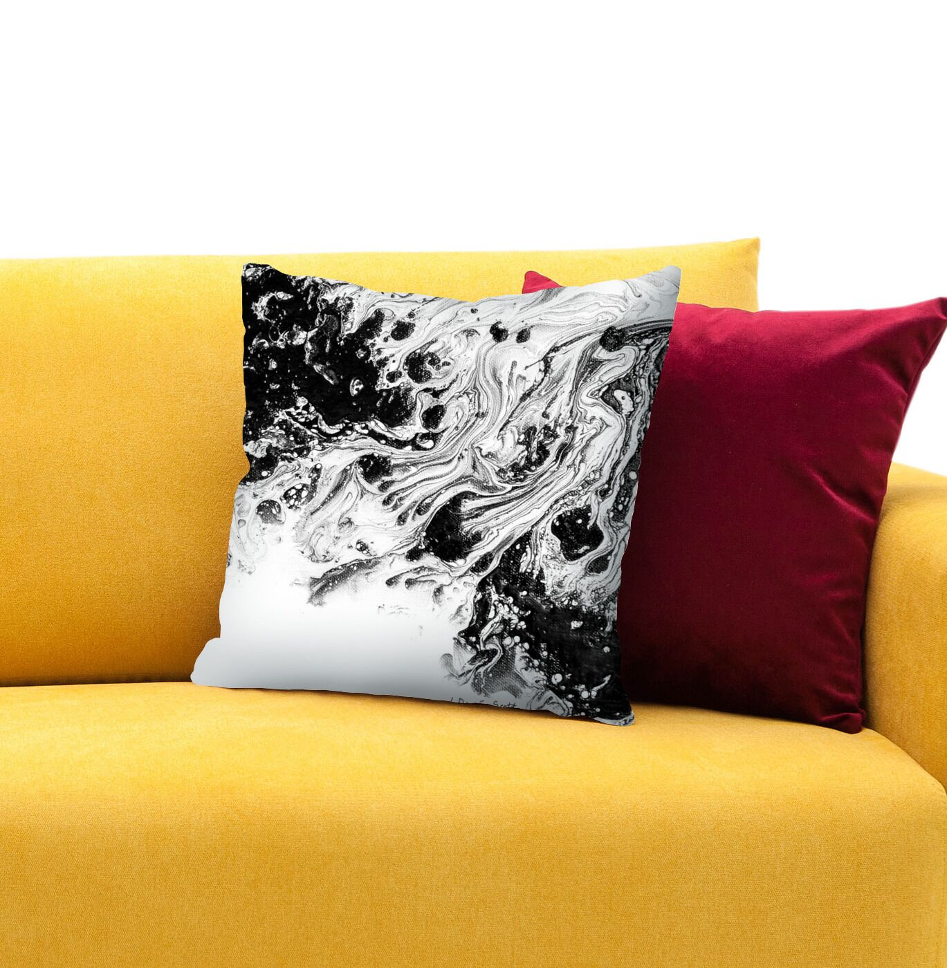 The Journey 3 Throw Pillow Size: 16