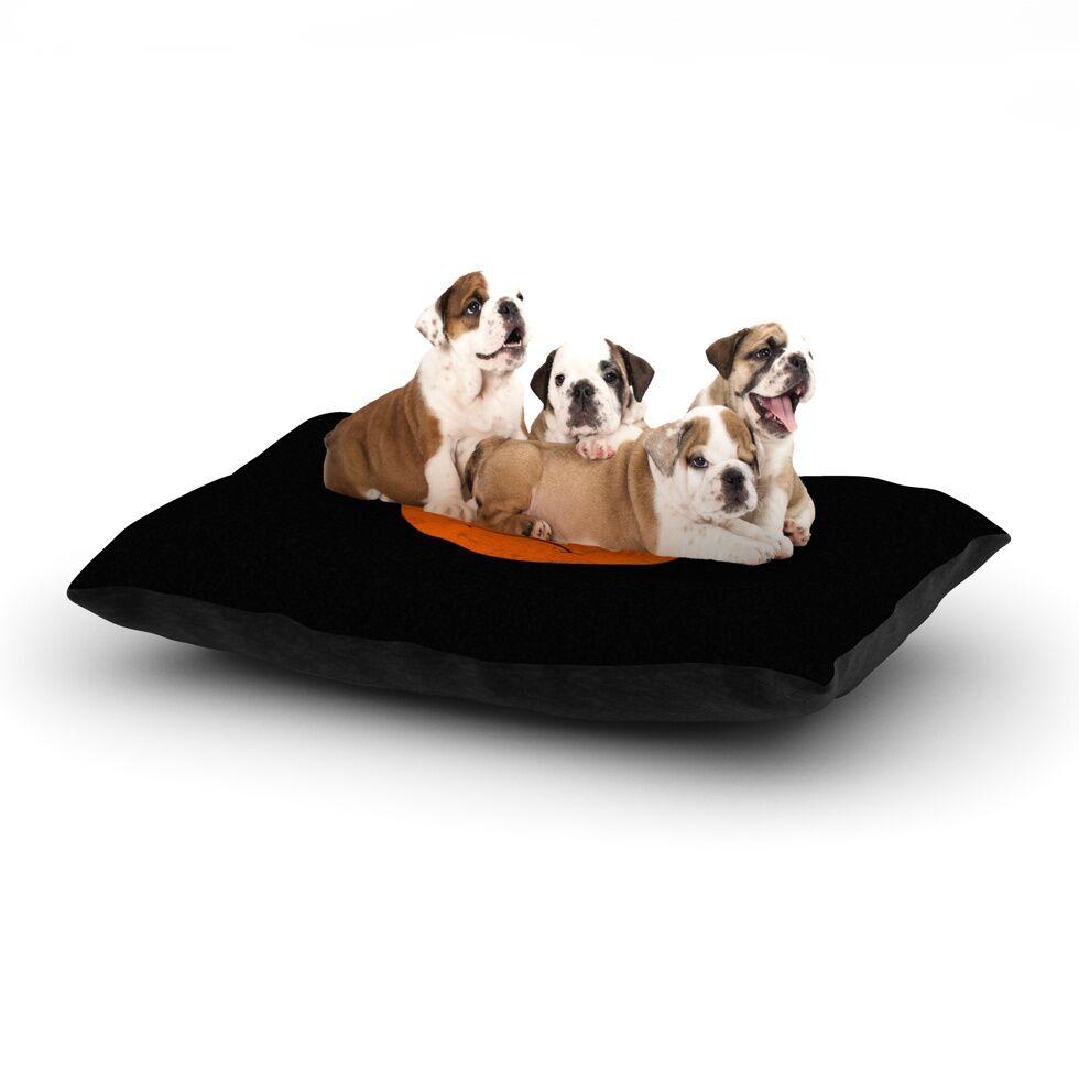 Frederic Levy-Hadida 'Yin Yang Diablo' Dog Pillow with Fleece Cozy Top Size: Small (40