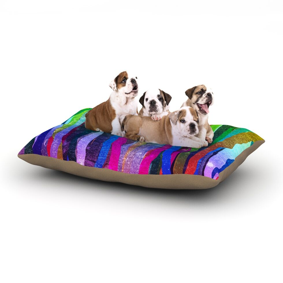 Frederic Levy-Hadida 'Jungle Stripes' Painting Dog Pillow with Fleece Cozy Top Size: Small (40
