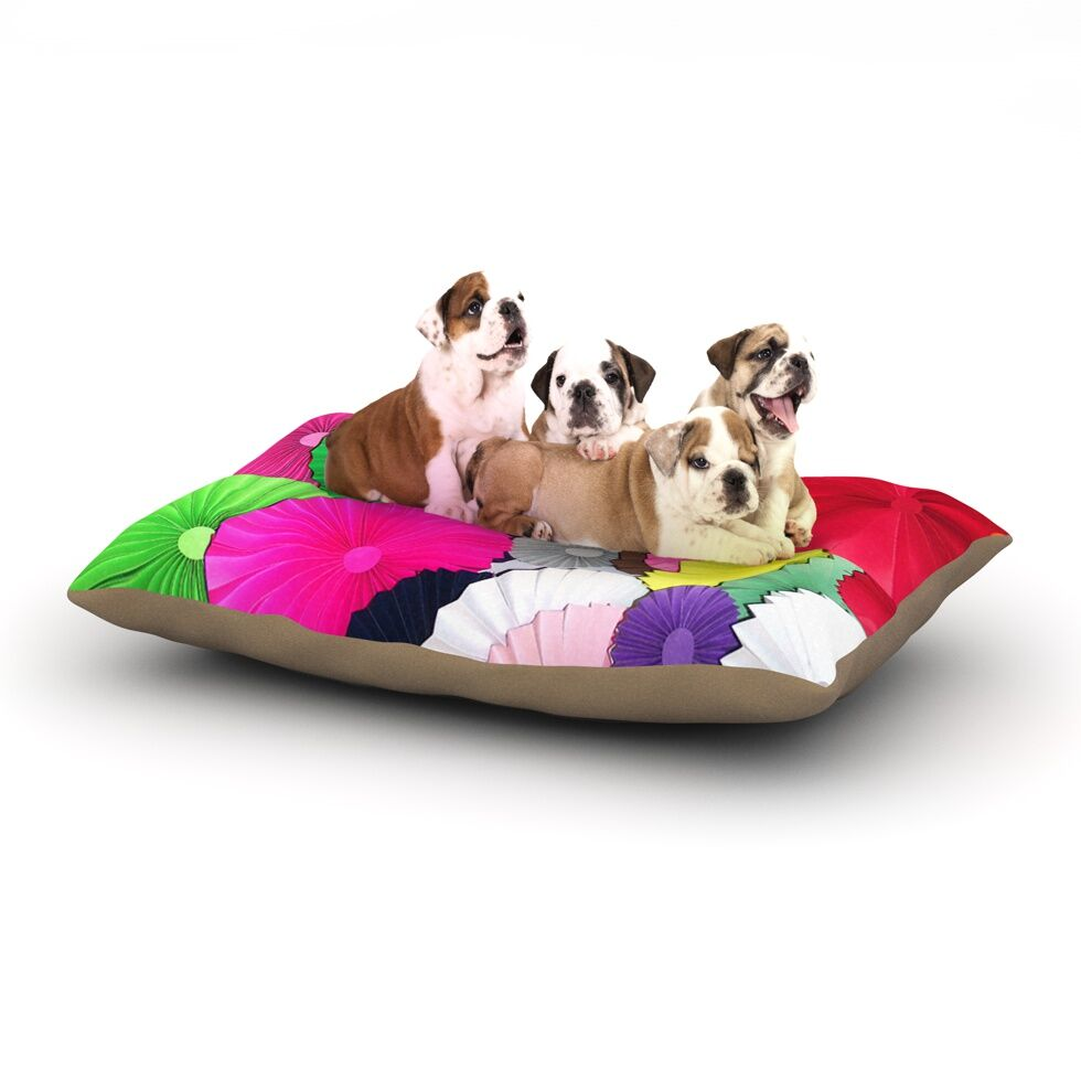 Heidi Jennings 'Tempting' ed Circles Dog Pillow with Fleece Cozy Top Size: Small (40