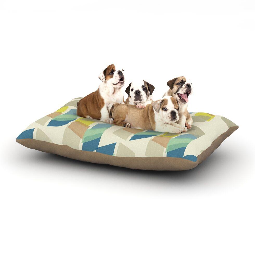 Gukuuki 'Kobob Chevron' Geometric Dog Pillow with Fleece Cozy Top Size: Small (40