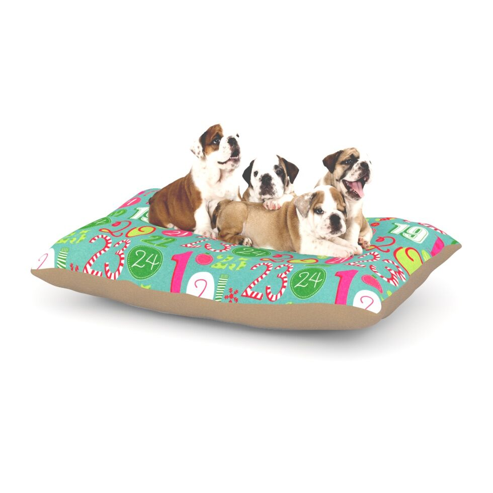Heidi Jennnings 'Merry Countdown' Dog Pillow with Fleece Cozy Top Size: Small (40
