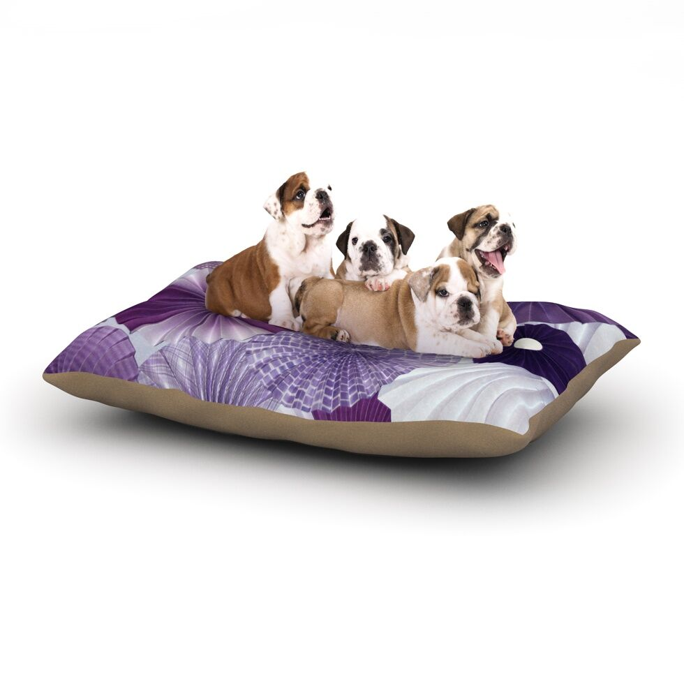 Heidi Jennings 'Lavender Wishes' Dog Pillow with Fleece Cozy Top Size: Small (40