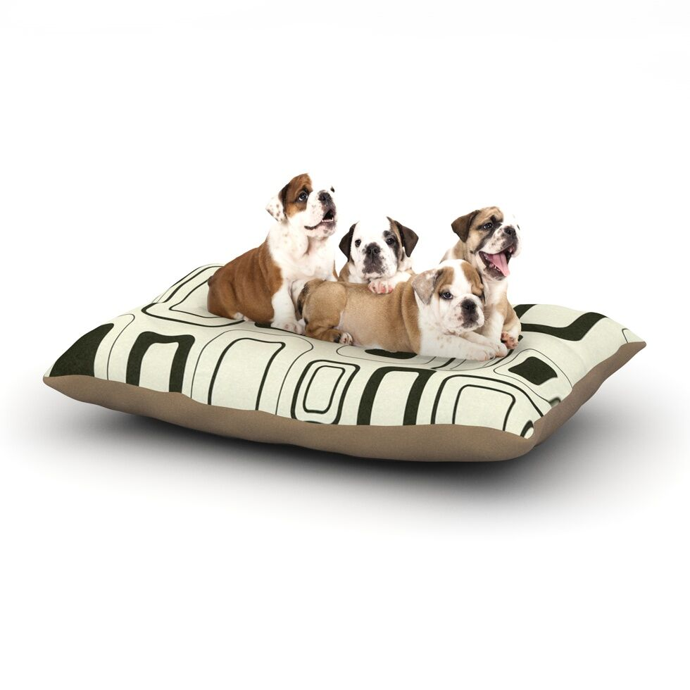 Heidi Jennings 'Cubes for Days' Dog Pillow with Fleece Cozy Top Size: Small (40