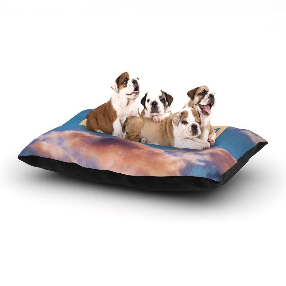 Iris Lehnhardt 'Dream' Clouds Dog Pillow with Fleece Cozy Top Size: Small (40