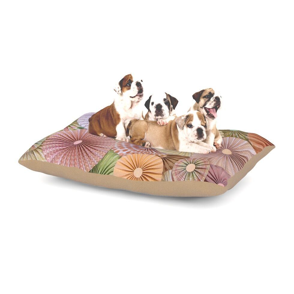 Heidi Jennings 'Spring' Pastels Abstract Dog Pillow with Fleece Cozy Top Size: Small (40