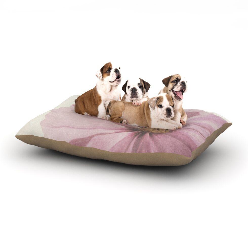 Iris Lehnhardt 'Ethereal' Petals Dog Pillow with Fleece Cozy Top Size: Small (40