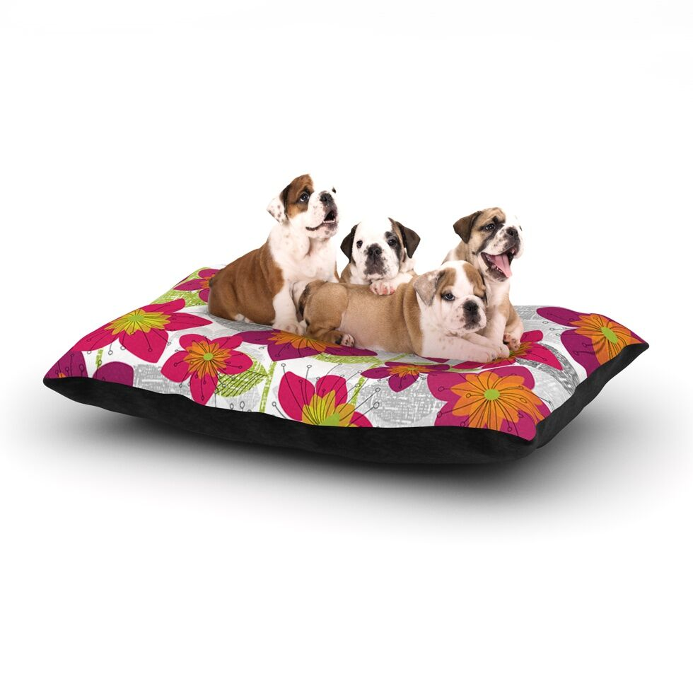 Jacqueline Milton 'Star Flower' Dog Pillow with Fleece Cozy Top Size: Small (40