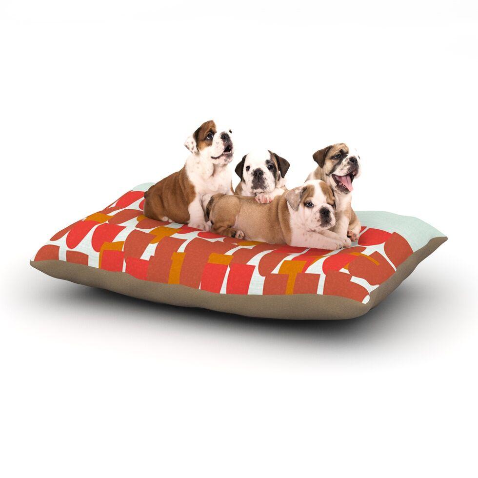 Pellerina Design 'Sunrise Poppies' Dog Pillow with Fleece Cozy Top Size: Small (40