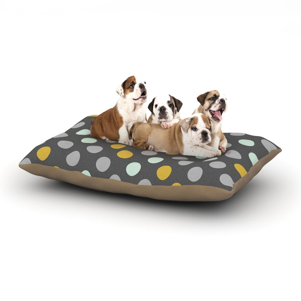 Pellerina Design 'Minty Polka' Dog Pillow with Fleece Cozy Top Size: Small (40