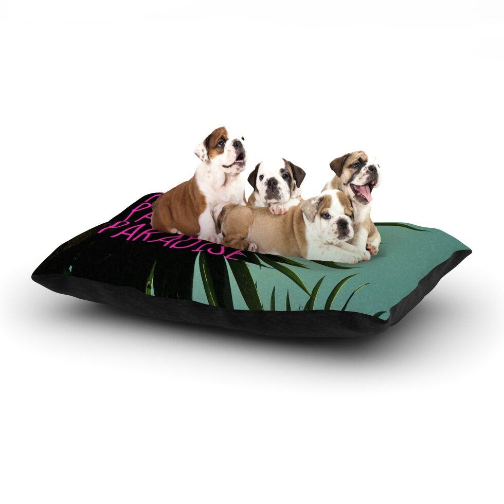 Nika Martinez 'Exotic Paradise' Dog Pillow with Fleece Cozy Top Size: Small (40