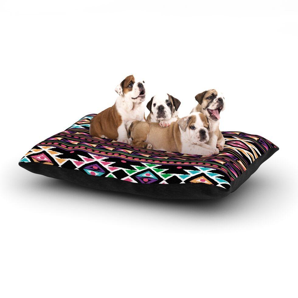 Nika Martinez 'Black Aylen' Dog Pillow with Fleece Cozy Top Size: Small (40