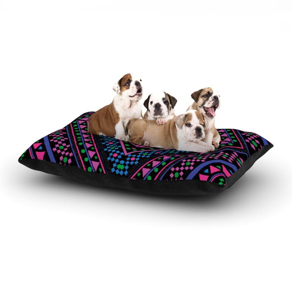 Nika Martinez 'Neon' Dog Pillow with Fleece Cozy Top Size: Small (40