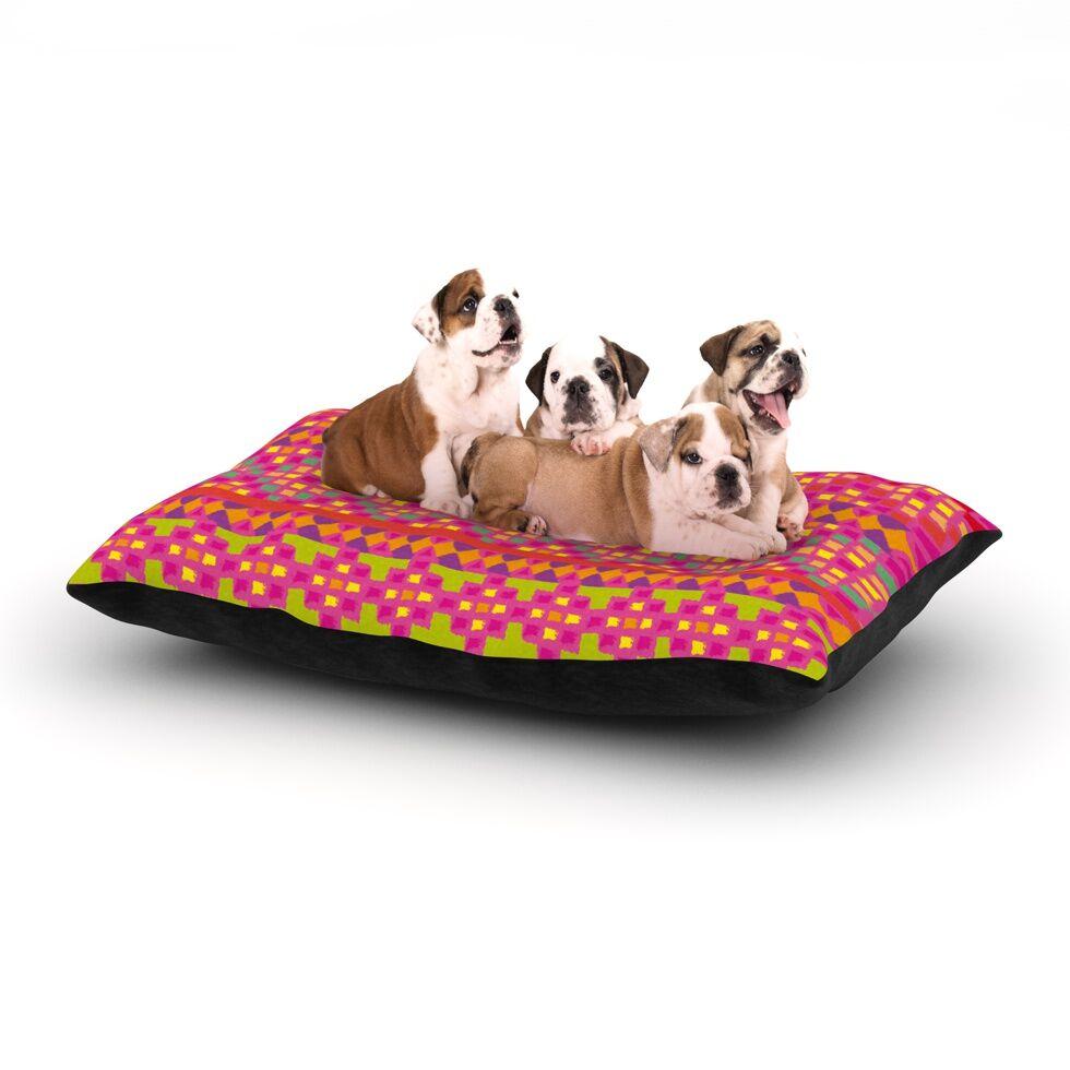 Nika Martinez 'Mexicalli' Dog Pillow with Fleece Cozy Top Size: Small (40