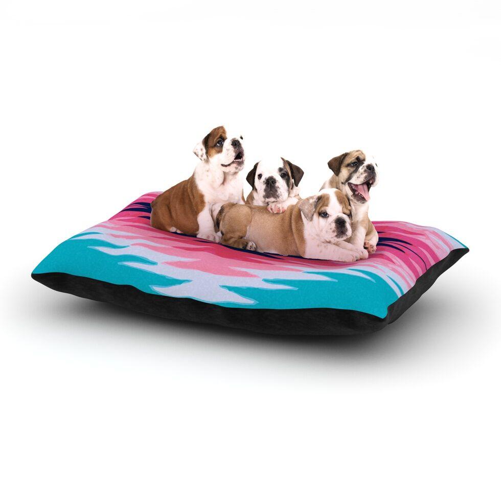 Nika Martinez 'Surf Lovin II' Dog Pillow with Fleece Cozy Top Size: Small (40