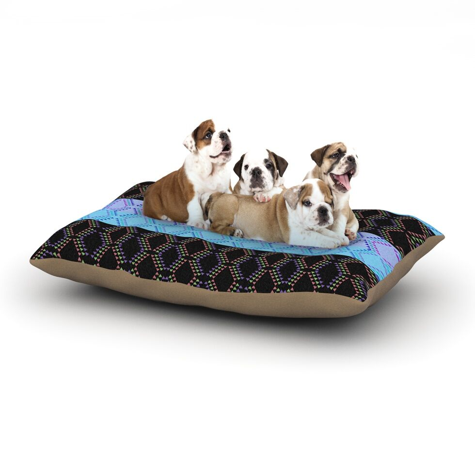 Nina May 'Denin Diamond' Dog Pillow with Fleece Cozy Top Size: Small (40