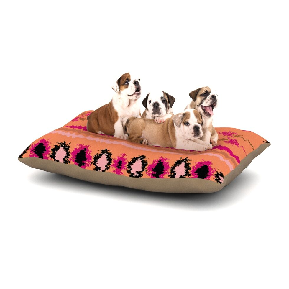 Nina May 'Nava' Tribal Dog Pillow with Fleece Cozy Top Size: Small (40
