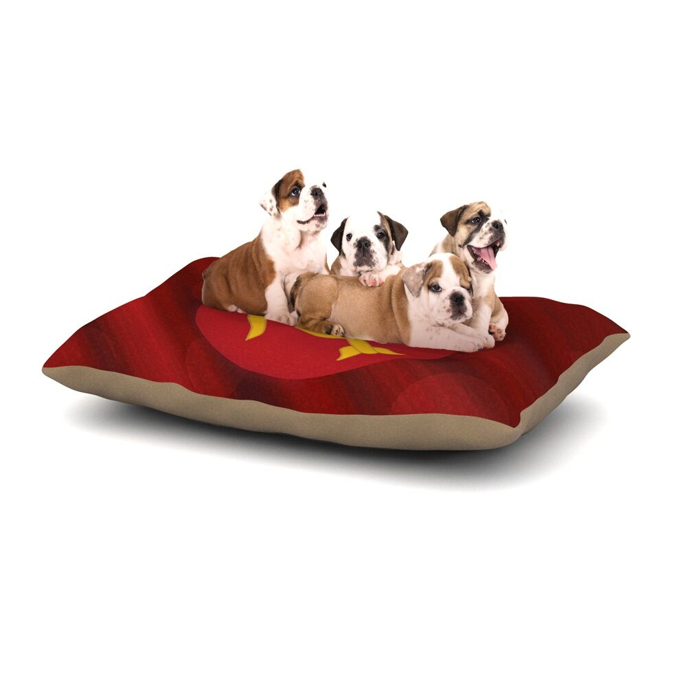NL Designs 'Mars' Marsala Dog Pillow with Fleece Cozy Top Size: Small (40