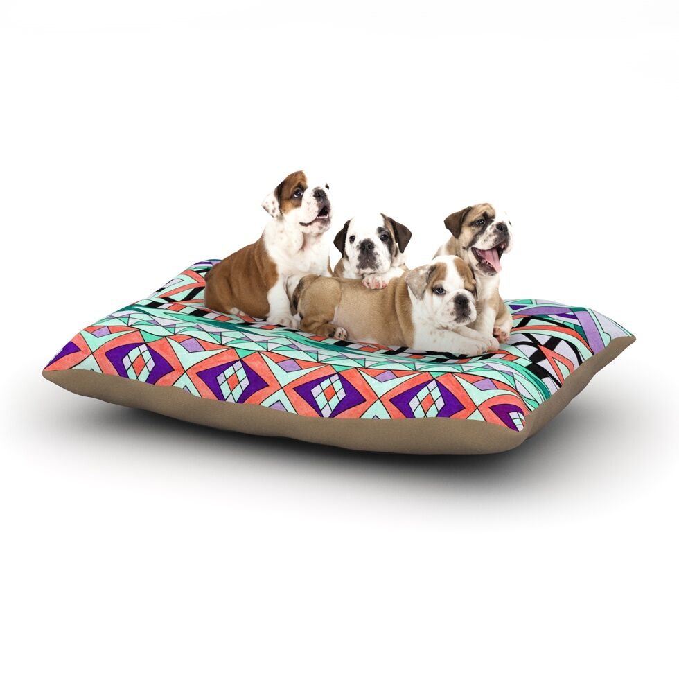 Pom Graphic Design 'Tribal Invasion' Abstract Dog Pillow with Fleece Cozy Top Size: Small (40