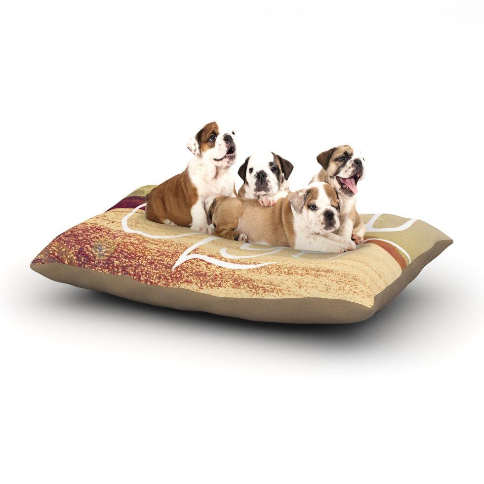 Rachel Burbee 'Good Life' Dog Pillow with Fleece Cozy Top Size: Small (40