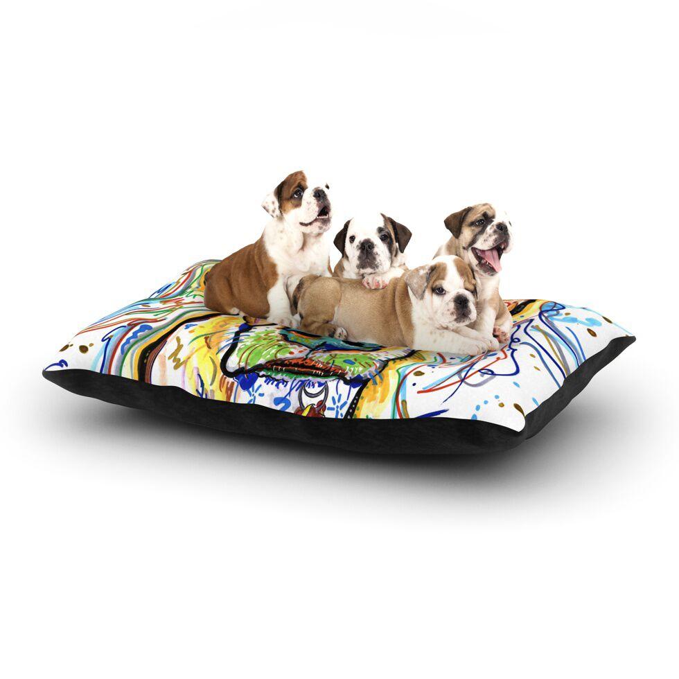 Rebecca Fischer 'Ernie' Dog Pillow with Fleece Cozy Top Size: Small (40