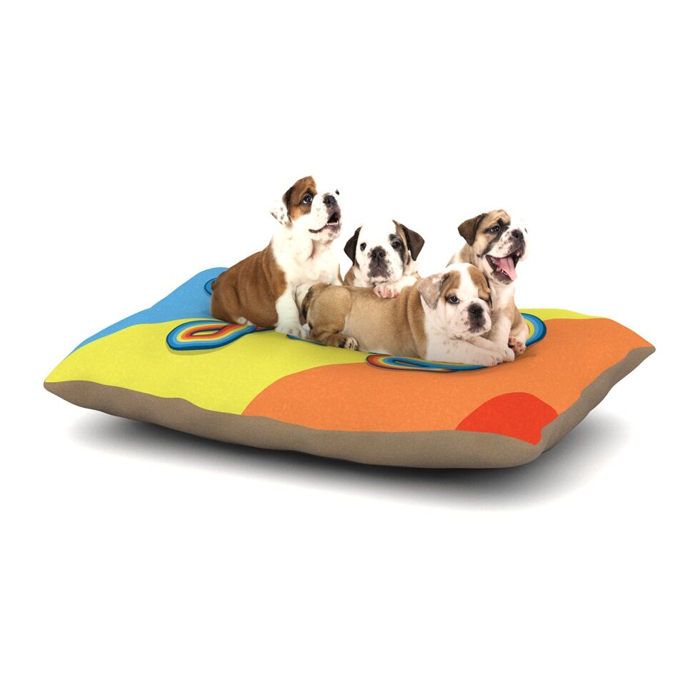 Roberlan 'Groovy' Typography Dog Pillow with Fleece Cozy Top Size: Small (40