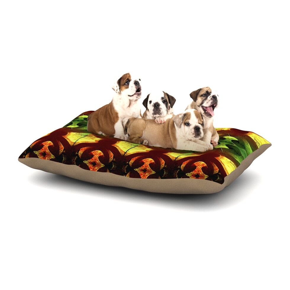 Anne LaBrie 'Tribal Marsala' Dog Pillow with Fleece Cozy Top Size: Small (40