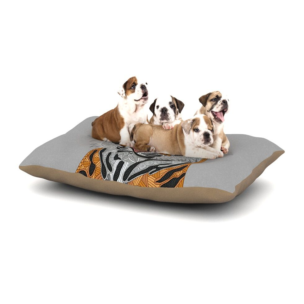 Art Love Passion 'Tiger' Dog Pillow with Fleece Cozy Top Size: Small (40