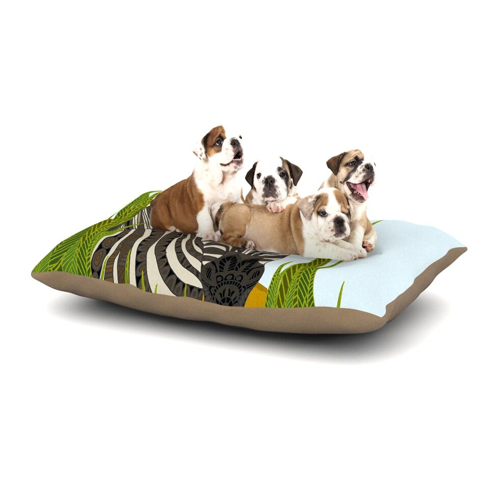 Art Love Passion 'Zebra' Dog Pillow with Fleece Cozy Top Size: Small (40