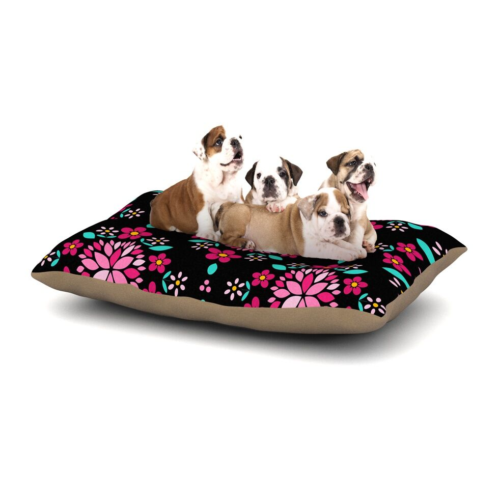 Anneline Sophia 'Dahlia Mandala' Dog Pillow with Fleece Cozy Top Size: Small (40