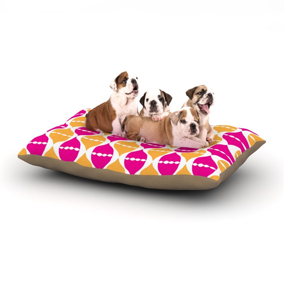 Apple Kaur Designs 'Moroccan Dreams' Dog Pillow with Fleece Cozy Top Size: Small (40