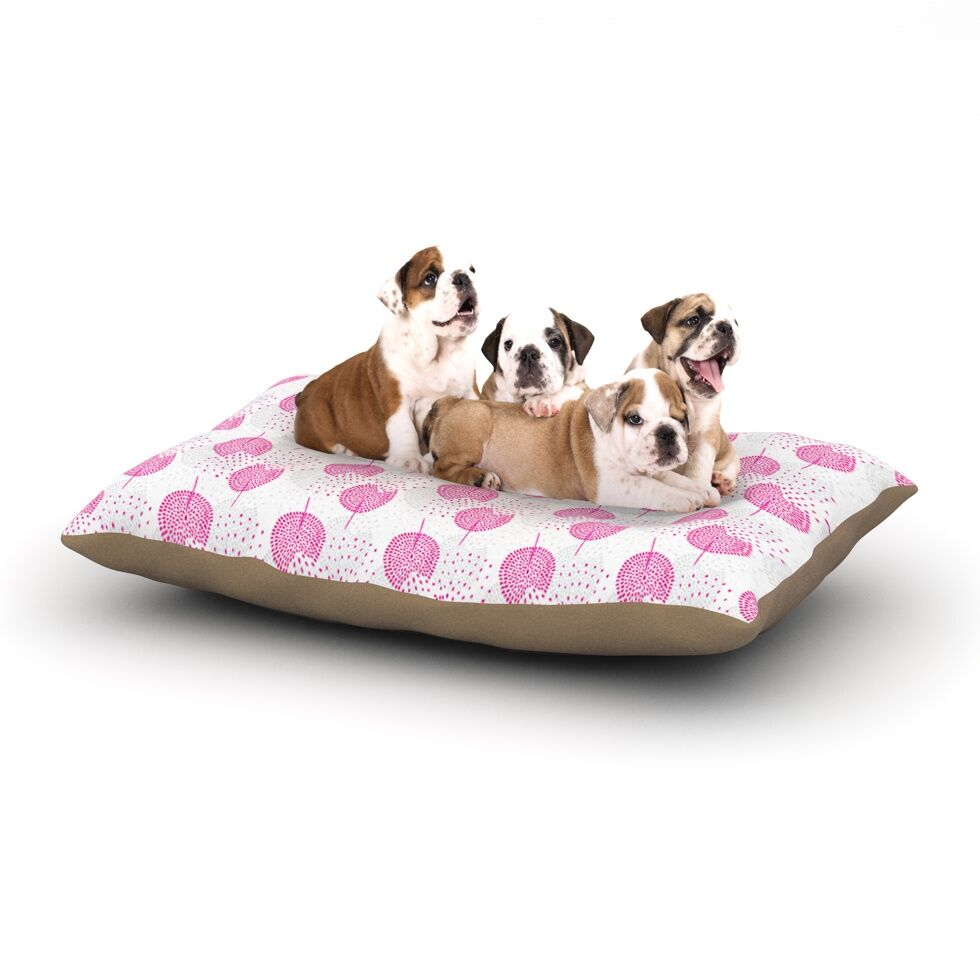 Apple Kaur Designs 'Wild Dandelions' Dog Pillow with Fleece Cozy Top Size: Small (40
