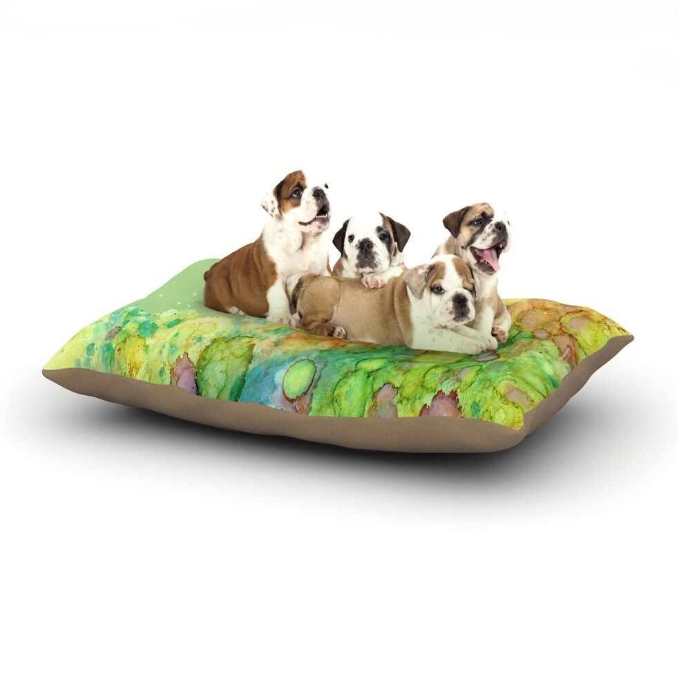 Rosie Brown 'Sea Life' Dog Pillow with Fleece Cozy Top Size: Small (40
