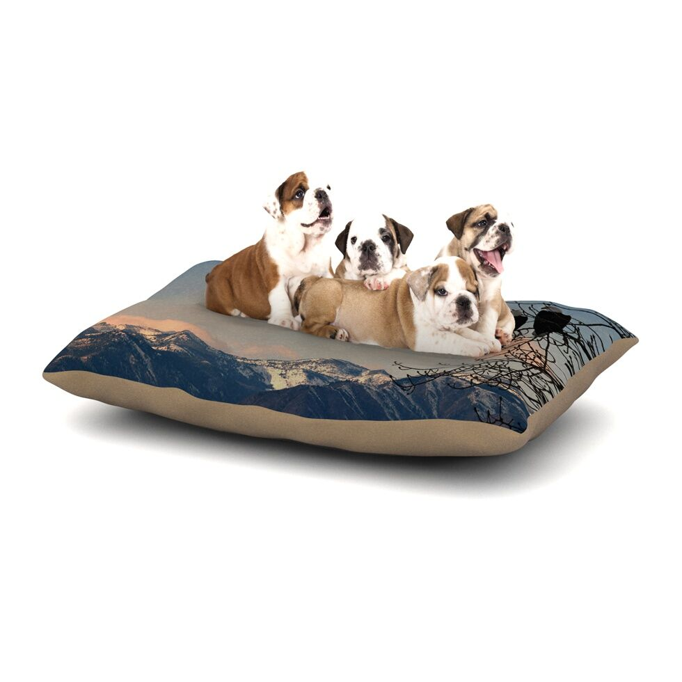 Robin Dickinson 'Majesty' Nature Landscape Dog Pillow with Fleece Cozy Top Size: Small (40