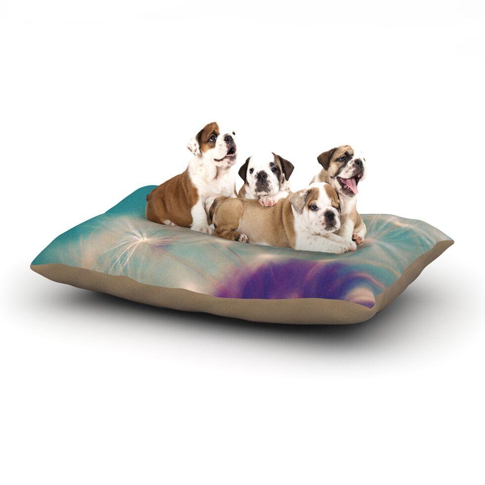 Sylvia Cook 'Dandelion Seedhead' Dog Pillow with Fleece Cozy Top Size: Small (40