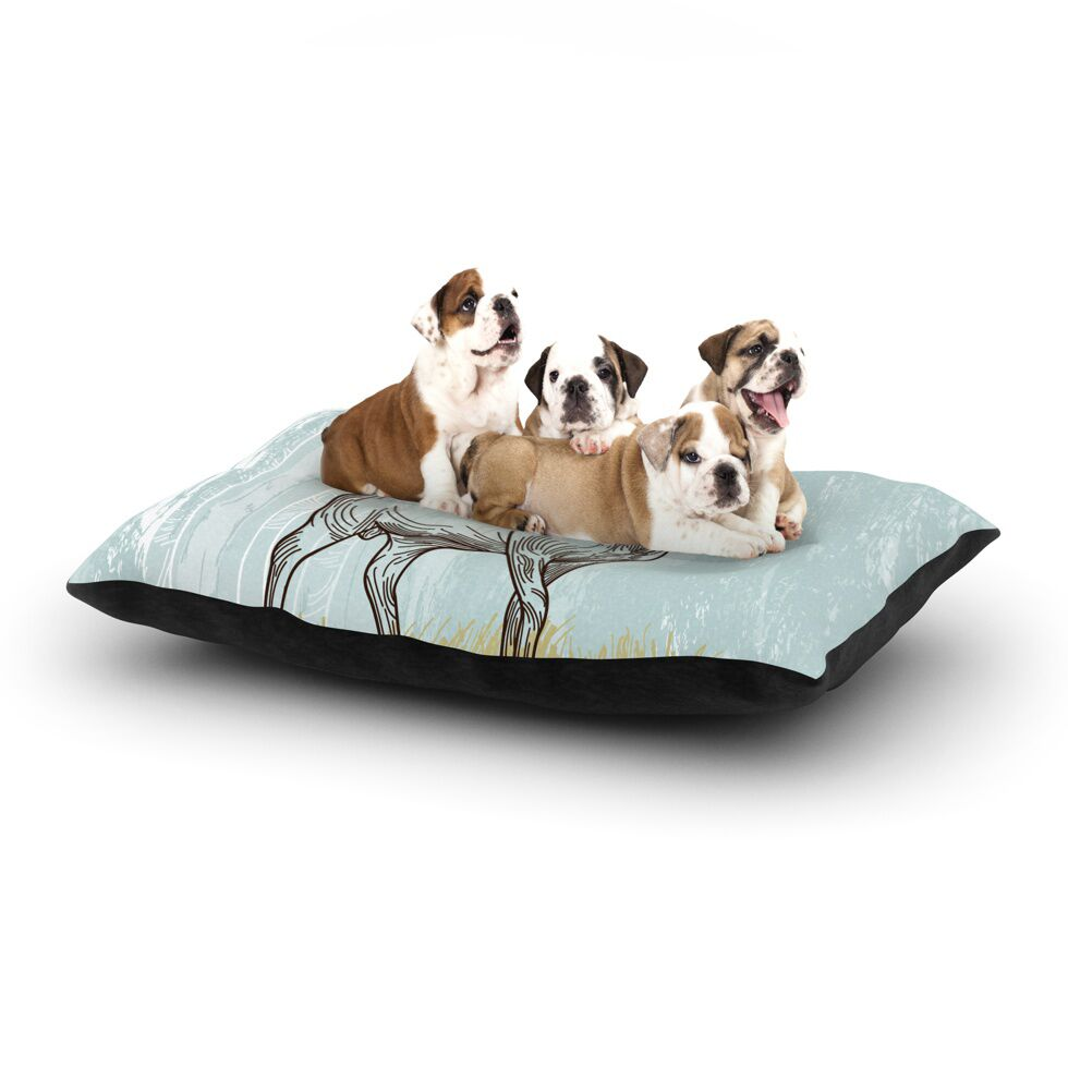 Sam Posnick 'Elk Scene' Dog Pillow with Fleece Cozy Top Size: Small (40