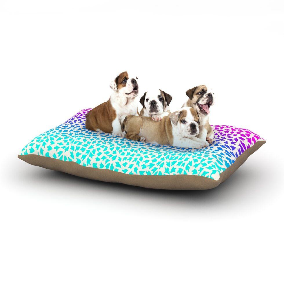 Sreetama Ray 'Ombre Arrows' Dog Pillow with Fleece Cozy Top Size: Small (40