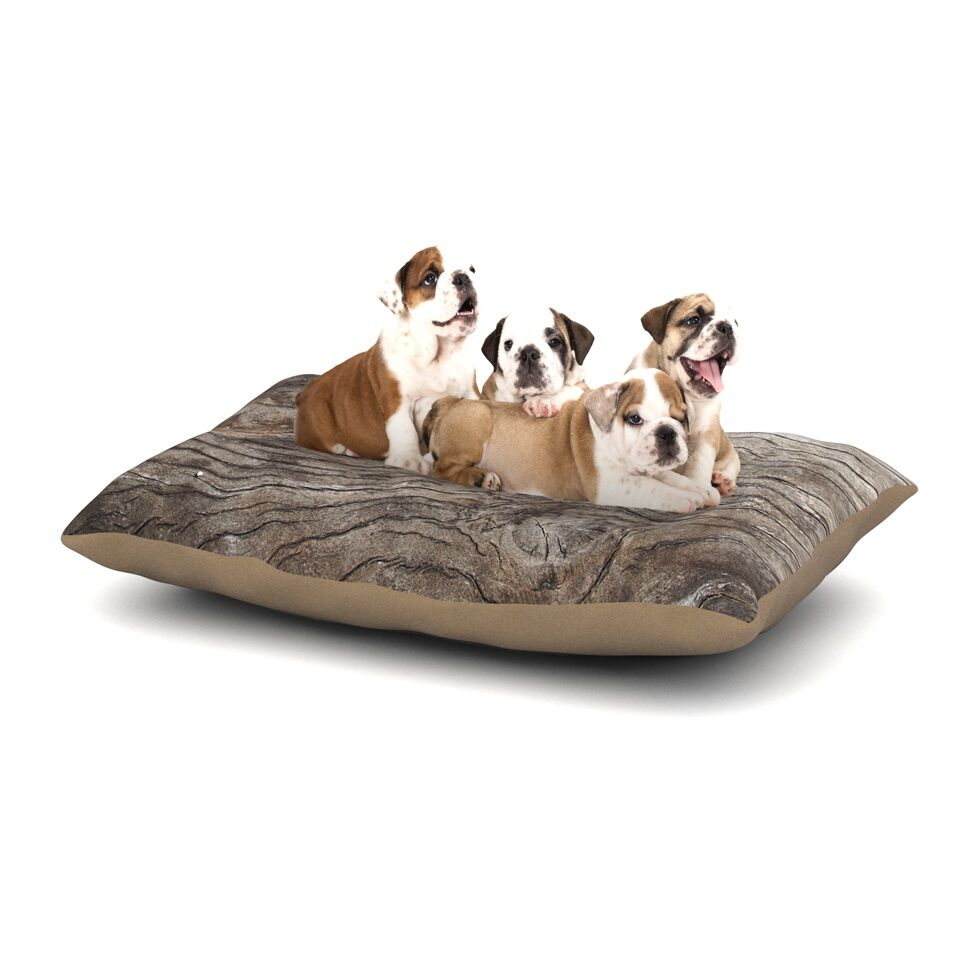 Susan Sanders 'Tree Bark' Wooden Dog Pillow with Fleece Cozy Top Size: Small (40