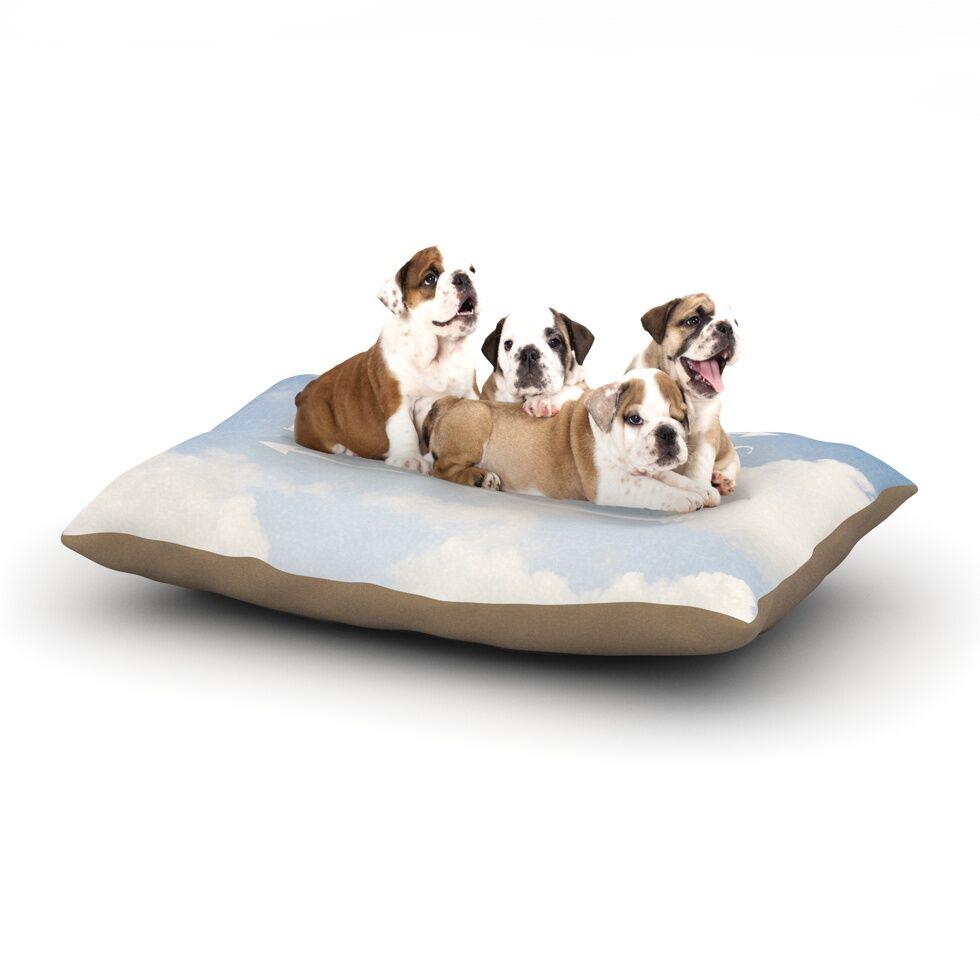 Susannah Tucker 'Dream Big' Clouds Dog Pillow with Fleece Cozy Top Size: Small (40