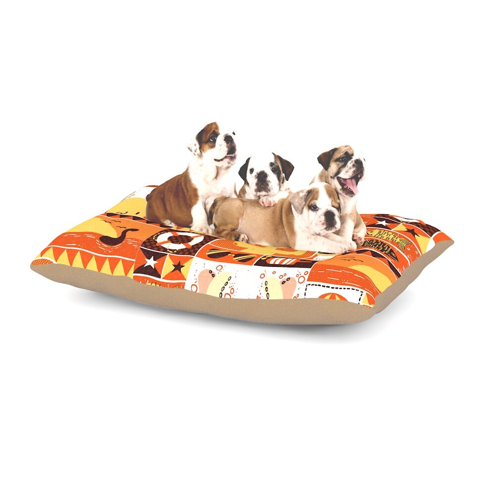 Tobe Fonseca 'Summer' Seasonal Dog Pillow with Fleece Cozy Top Size: Small (40