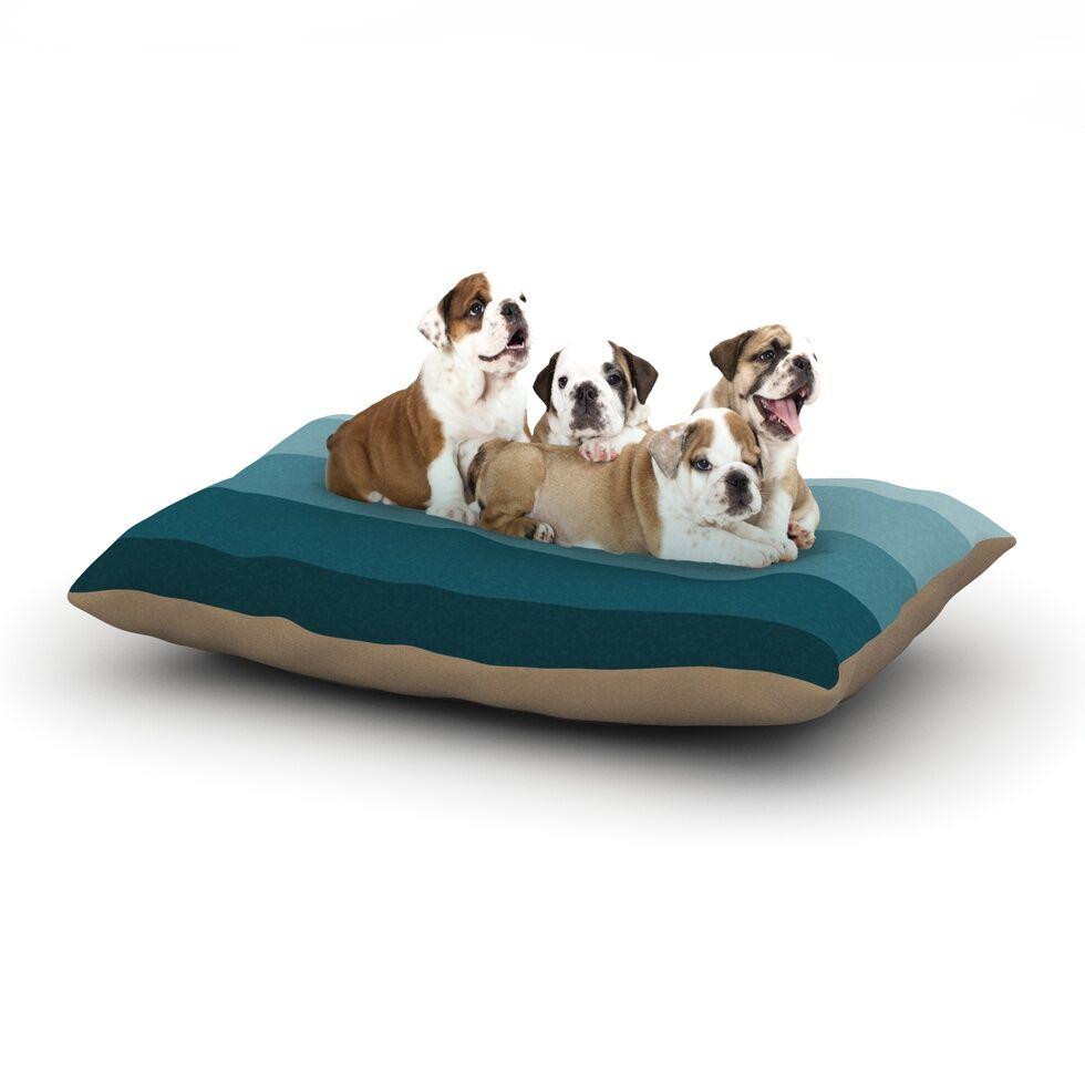 Trebam 'Cijan' Dog Pillow with Fleece Cozy Top Size: Small (40