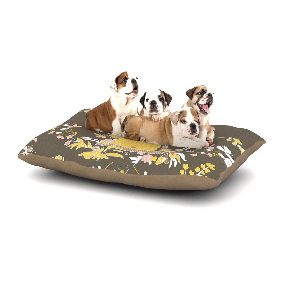Very Sarie 'Hope for the Flowers II' Dog Pillow with Fleece Cozy Top Size: Small (40