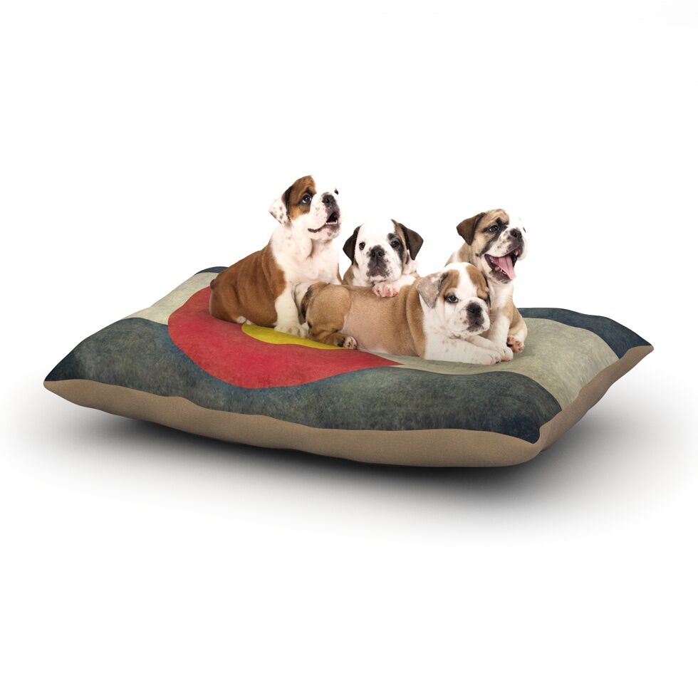 Bruce Stanfield 'State Flag of Colorado' Dog Pillow with Fleece Cozy Top Size: Small (40