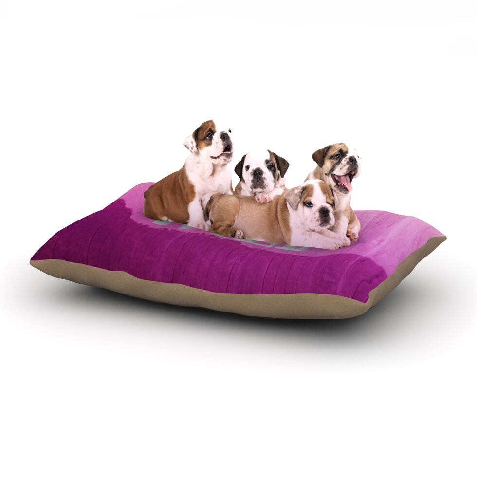 Catherine McDonald 'Wild' Dog Pillow with Fleece Cozy Top Size: Small (40