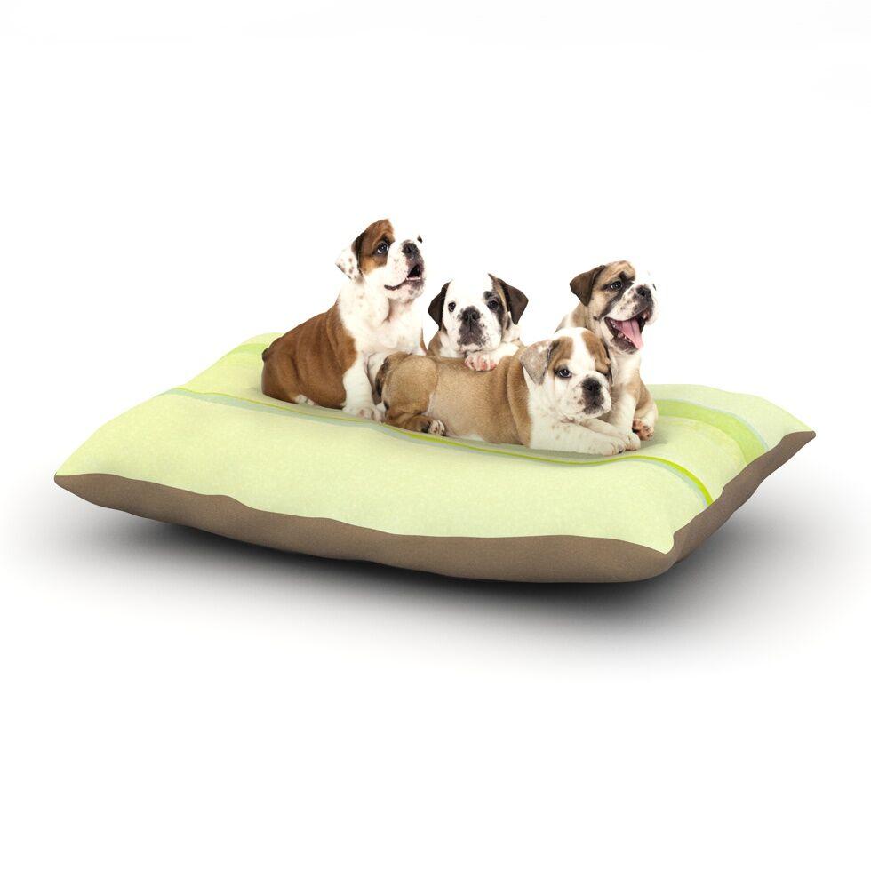 CarolLynn Tice 'Lemons' Dog Pillow with Fleece Cozy Top Size: Small (40