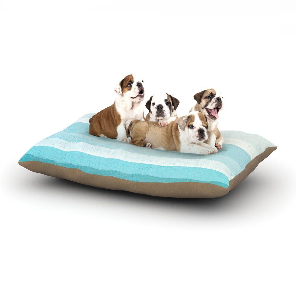 CarolLynn Tice 'Waves' Dog Pillow with Fleece Cozy Top Size: Small (40