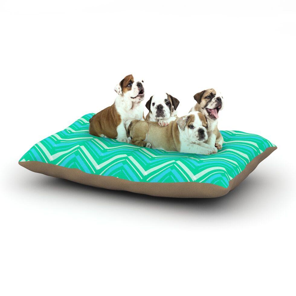 CarolLynn Tice 'Symetrical' Dog Pillow with Fleece Cozy Top Size: Small (40