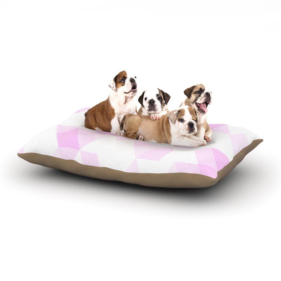 CarolLynn Tice 'Aspire' Geometric Dog Pillow with Fleece Cozy Top Size: Small (40
